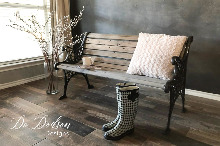 Park Bench makeover that was worth it!