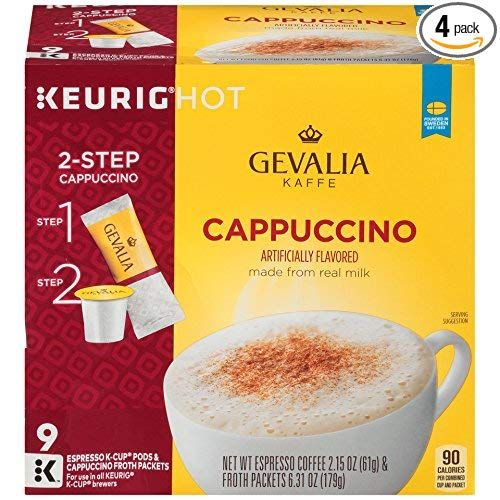 Cappuccino K Cupsgift ideas for women that love coffee