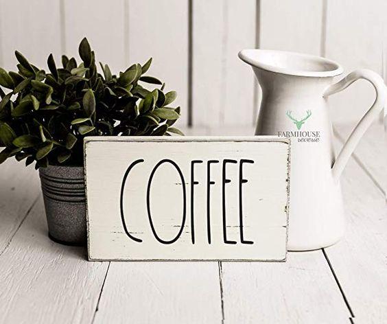 Rae Dunn Coffee SignGift Ideas For Women