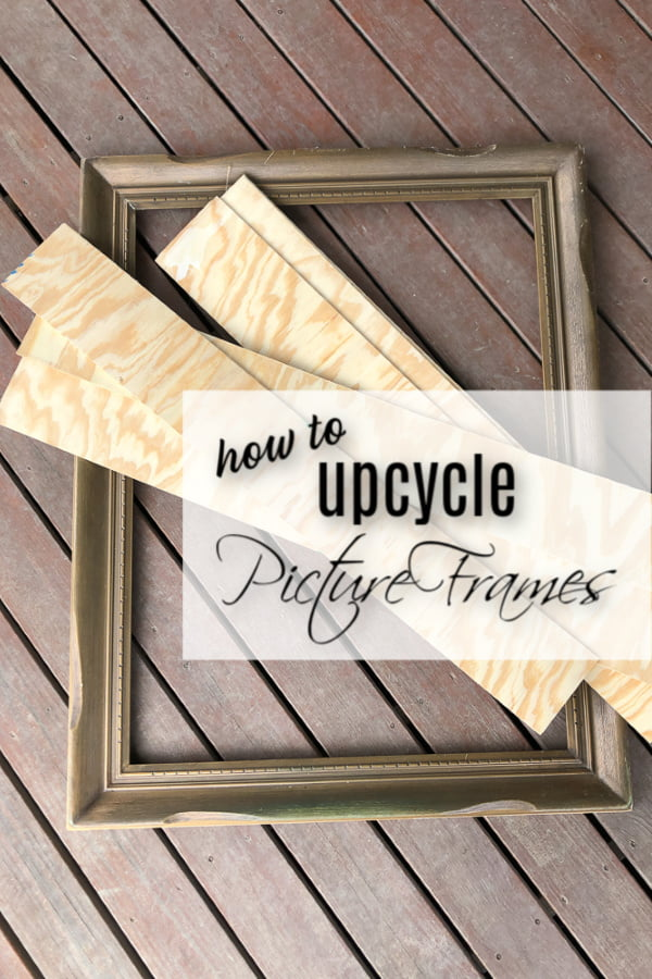 How To Up-cycle Picture Frames With Ship-lap