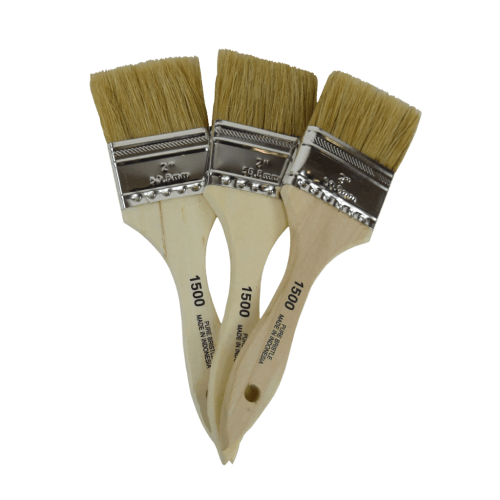 Premium natural bristle chip paint brushes. Perfect for adding texture, waxing in the corners and even blending paint.