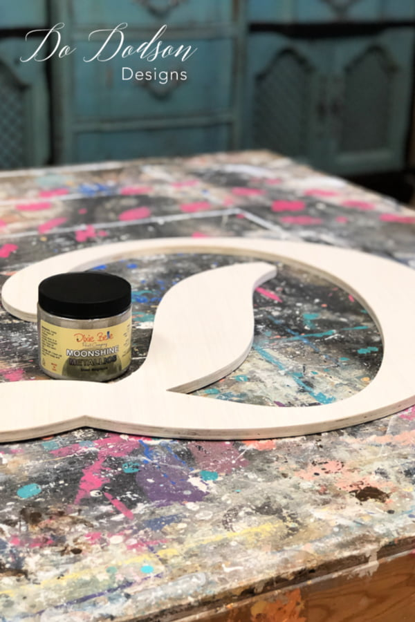 Painting wood letters and adding your personal style is a great way to create a unique look in your home decor.