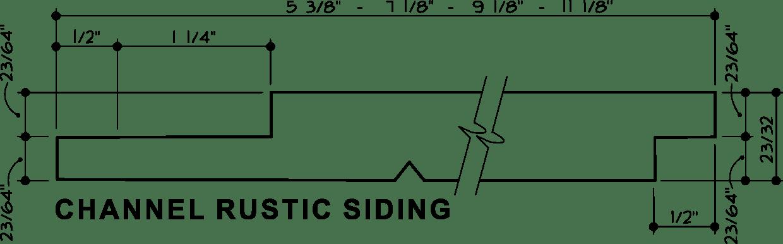 Channel Rustic Siding