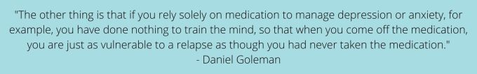 quote on anxiety and training the brain
