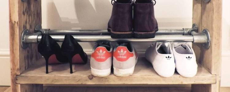 Zelf schoenenrek van steigerhout maken, dat kan jij ook!