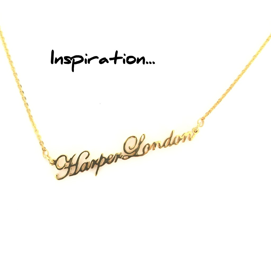 Necklace-Inspired Name Sign