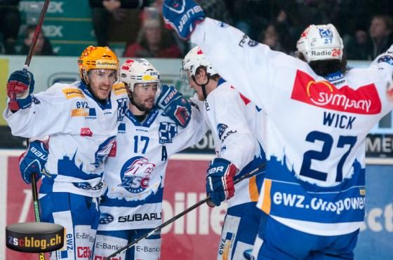 Thibaut Monnet, Ryan Shannon , Mikko Lehtonen und Roman Wick
