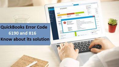 Quickbooks error 6190-816