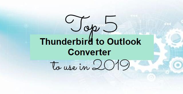 best thunderbird to outlook converter