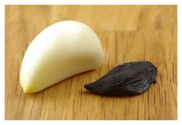 Jämförelse  mellan vanlig & black garlic