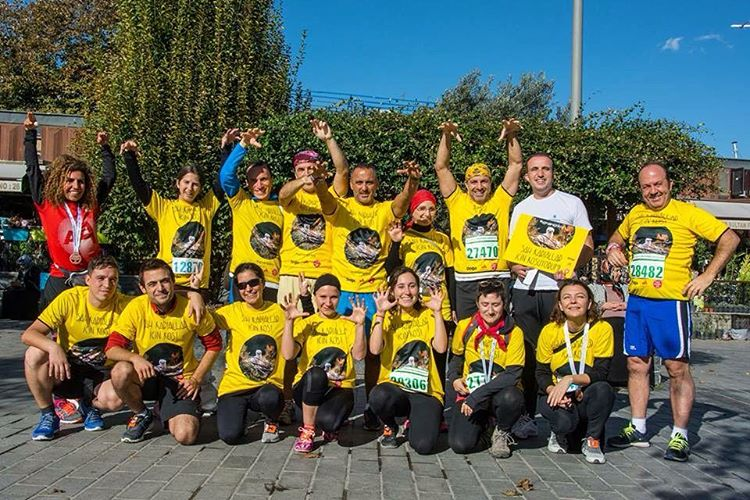 Dogas 37 supporters run today at the Istanbul Marathon forhellip