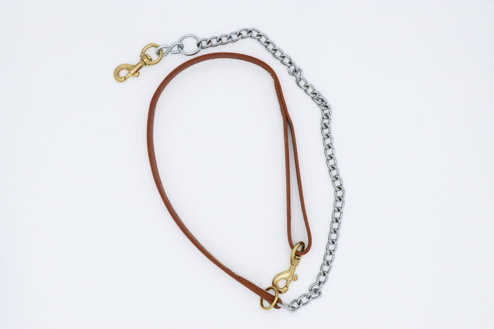 Leather Lead W Chain