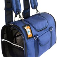Natuvalle 6-in-1 Pet Carrier Backpack, Small, 16 x 9 x 11.5-Inch, Navy Blue