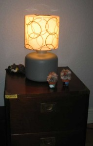 Lampa i närbild