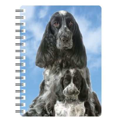 030717115617 3D Notebook Cocker Spaniel 1 Blue Roan