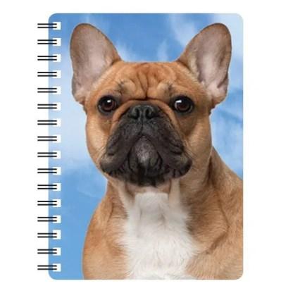 030717116126 3D Notebook French Bulldog Fawn 1
