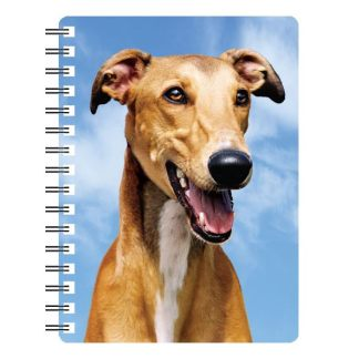 030717115679 3D Notebook Greyhound Red
