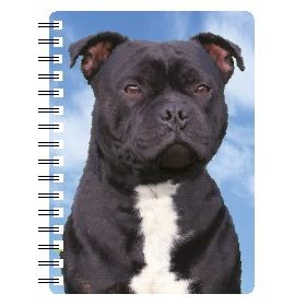030717118328 3D Notebook Staffordshire Bull Terrier Black 1