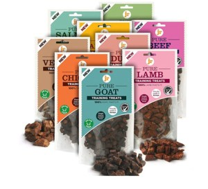 A range of JR 100% Healthy Dog Treats