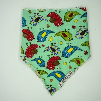 Birds on Green Small Bandana
