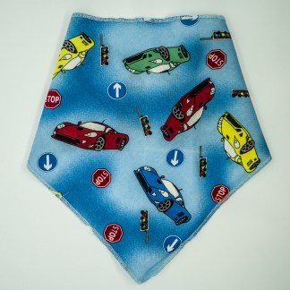 Cars on Blue Large Bandana