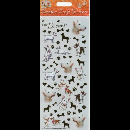 English Bull Terrier Creative Craft Stickers