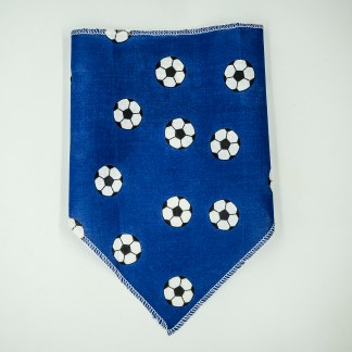 Footballs on Blue Small Bandana