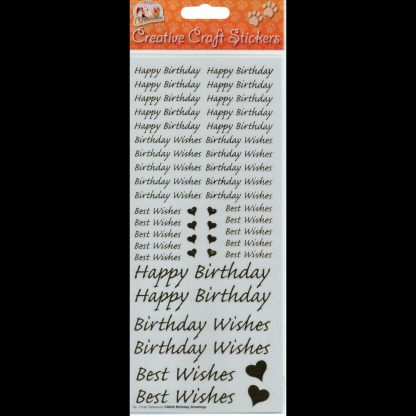 Happy Birthday Creative Craft Stickers