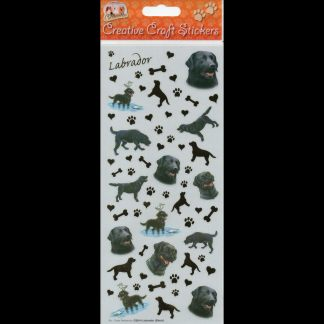Labrador Black Creative Craft Stickers