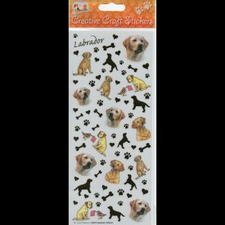 Labrador Yellow Creative Craft Stickers