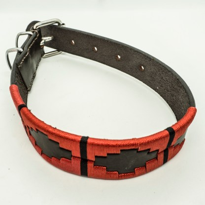 Red Polo M Leather Collar