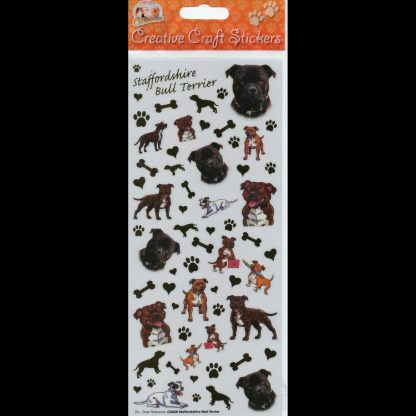 Staffordshire Bull Terrier Creative Craft Stickers
