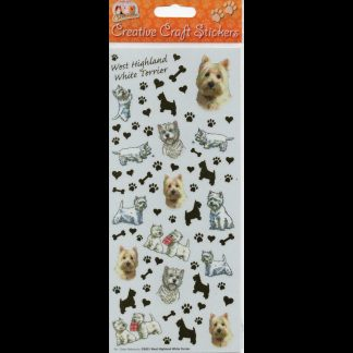 West Highland White Terrier Creative Craft Stickers