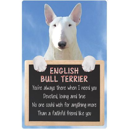 030717117284: 3D Hangable Verse English Bull Terrier White