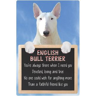 030717117284: 3D Hangable Verse English Bull Terrier White