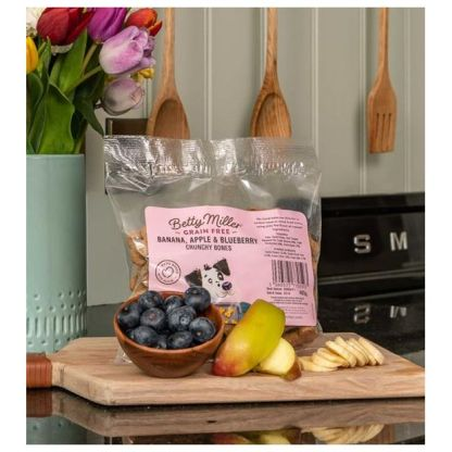 Betty Miller Banana Apple and Blueberry Bones 400g Biscuit Treats
