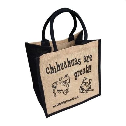 Chihuahuas are Great Jute Bag Long Hair