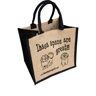 Lhasa Apsos are Great Jute Bag