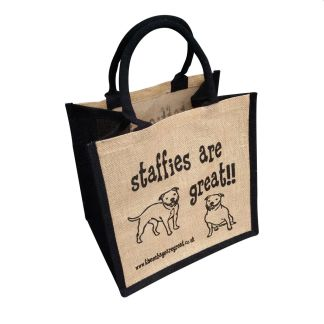 Staffies are Great Jute Bag