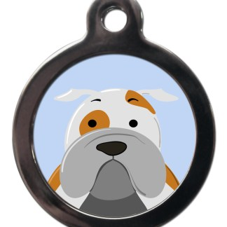 English Bulldog BR6 Dog Breed ID Tag