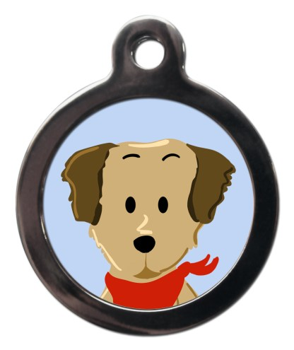 Golden Retriever BR7 Dog Breed ID Tag