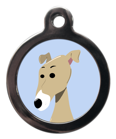 Greyhound BR8 Dog Breed ID Tag