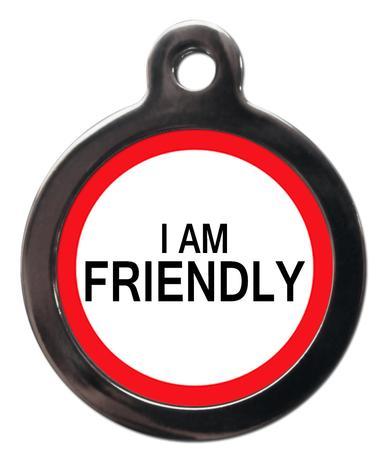 I am Friendly ME47 Medic Alert Dog ID Tag