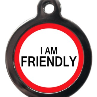 I am Friendly ME47 Medic Alert Dog ID Tag
