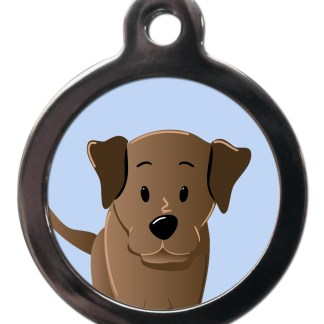 Labrador Chocolate BR27 Dog Breed ID Tag