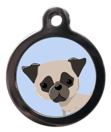 Pug BR25 Dog Breed ID Tag