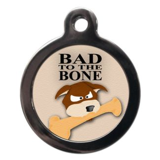 Bad to the Bone CO19 Comic Dog ID Tag