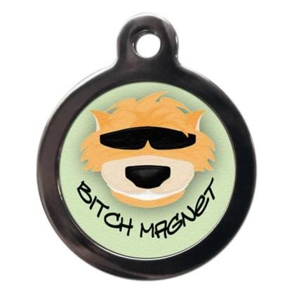 Bitch Magnet CO2 Comic Dog ID Tag