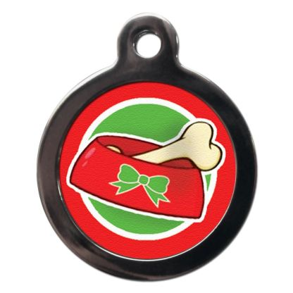 Christmas Bone FE24 Festive Christmas Dog ID Tag