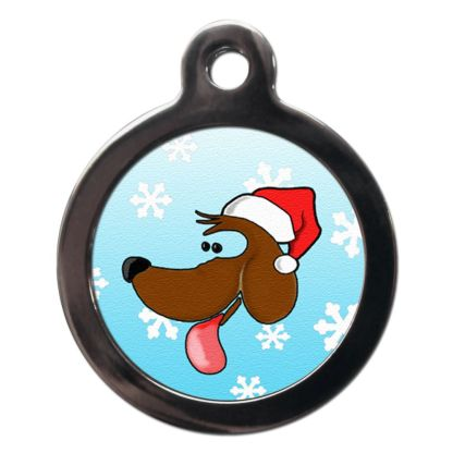 Christmas Doggie FE2 Festive Christmas Dog ID Tag
